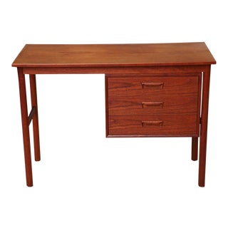 Arne Vodder 1960s Petite Danish Modern Teak Writing Table Desk For Sale