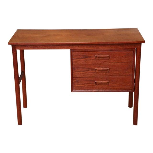 Arne Vodder 1960s Petite Danish Modern Teak Writing Table Desk For Sale