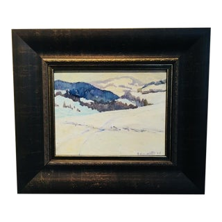 """Snow Covered Mountain"" by Romeo Vincelette For Sale"