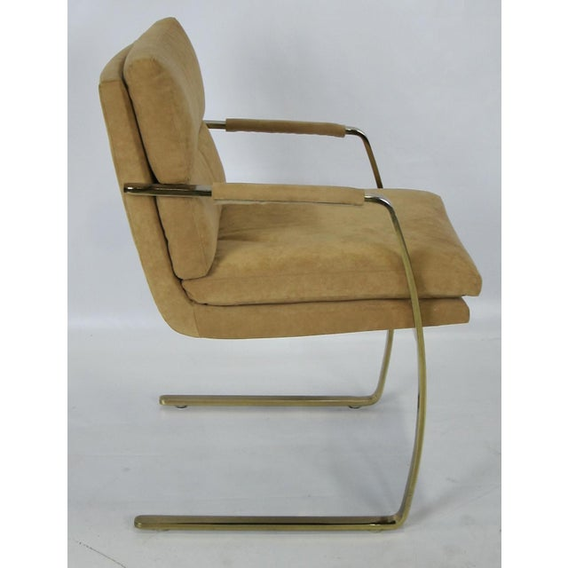 Modern Set of Four Brass Armchairs by Pace For Sale - Image 3 of 5