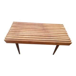 Mid-Century Modern Slat Bench / Coffee Table From Yugoslavia