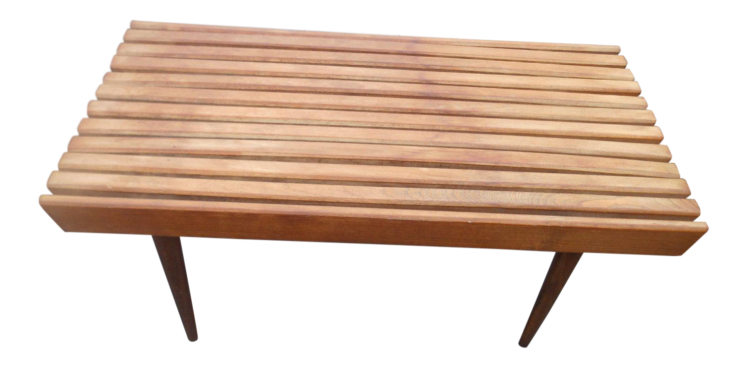 Mid Century Modern Slat Bench / Coffee Table From Yugoslavia