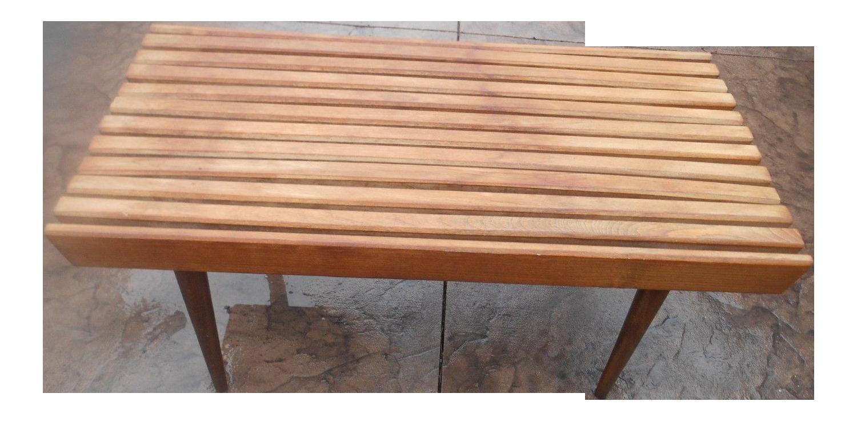 Mid Century Modern Slat Bench / Coffee Table From Yugoslavia