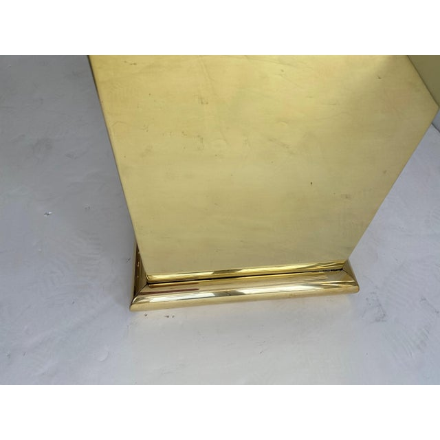 """Brass 30"""" Polished Brass Pedestal by Crafts For Sale - Image 8 of 13"""