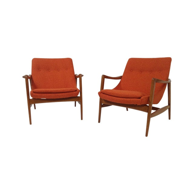 Mid Century Modern Lounge Chairs - 2 For Sale