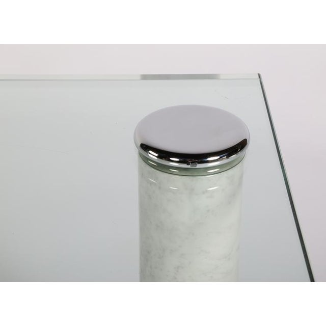 Chrome PACE MARBLE AND GLASS COCKTAIL TABLE For Sale - Image 7 of 7