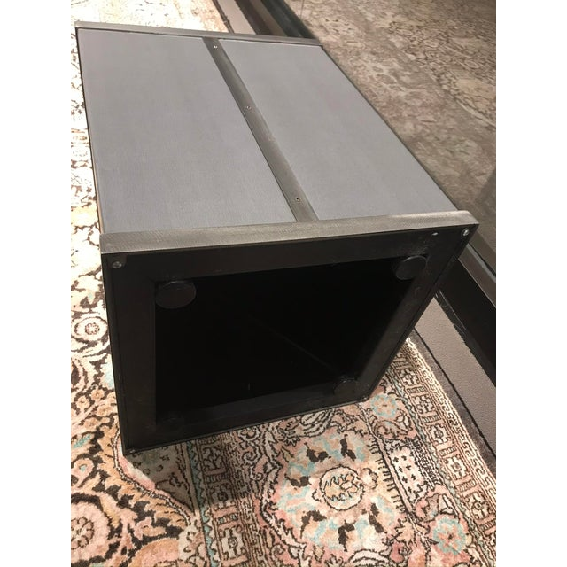 Kravet Contemporary Grey Kravet Rubell Cube Table For Sale - Image 4 of 5