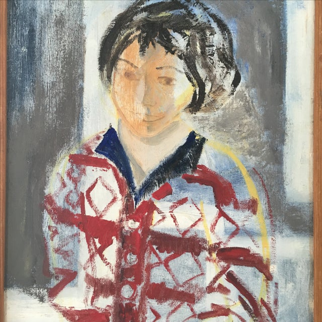 Contemporary Postmodern Oil Painting of a Woman Figure For Sale - Image 3 of 6