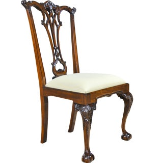 Niagara Furniture Gothic Mahogany Chippendale Side Chair For Sale