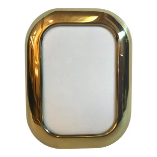 Vintage Mid-Century Modern Brass Picture Frame For Sale