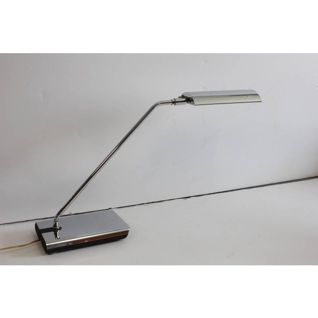 Mid-Century Modern 1970's Vintage Koch & Lowy Chrome Desk Lamp For Sale - Image 3 of 5