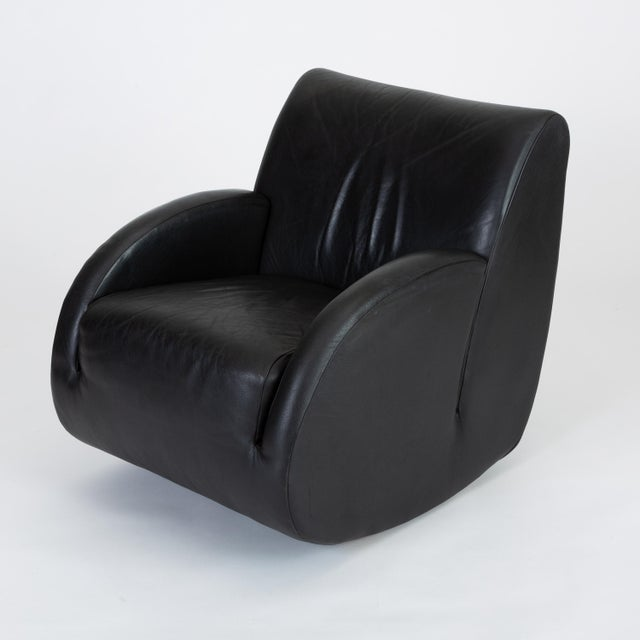 "American Leather ""Rock Star"" Leather Rocking Chair by Vladimir Kagan for American Leather For Sale - Image 4 of 12"