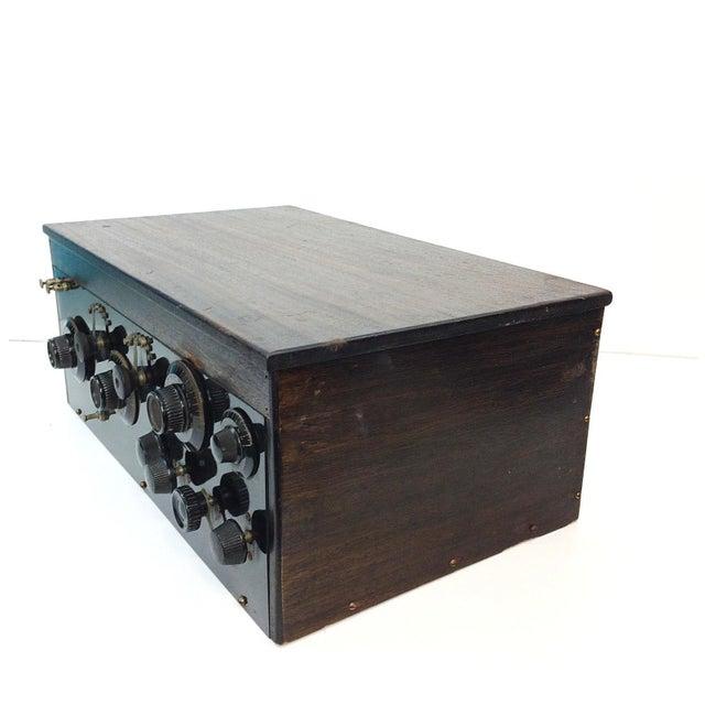 1920s 4 Tube Regen Wood Case Radio & C. Brandes Headphones - Image 5 of 10