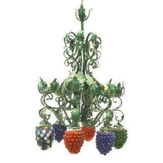 Italian Venetian Eight-Arm Chandelier For Sale