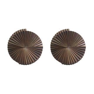Pair of Medium Fan Sconce Sculptures by Fabio Ltd For Sale