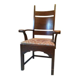 Arts & Crafts Oak Armchair