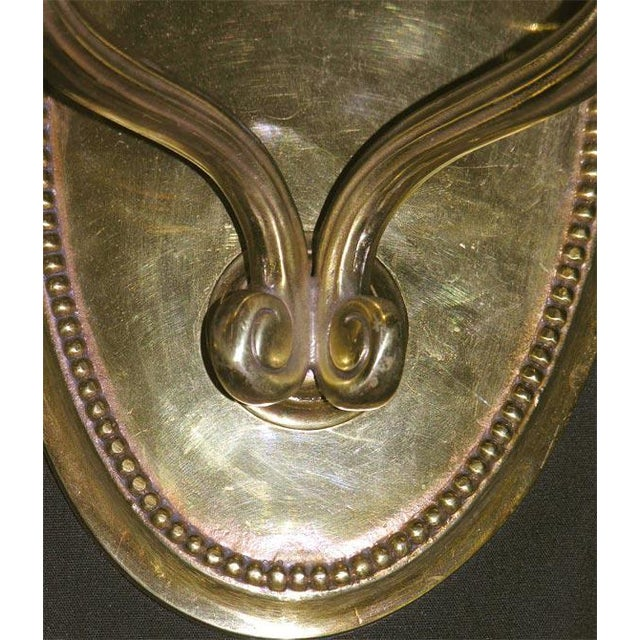 1980s Pair of Deco-Style Two-Branch Wall Sconces For Sale - Image 5 of 6