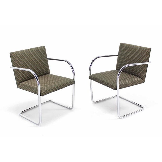 Pair of Mies Brno Side office dining Chairs for Knoll For Sale - Image 10 of 10