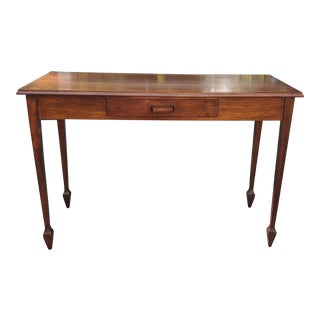 Mid-Century Modern Wooden Console Table For Sale