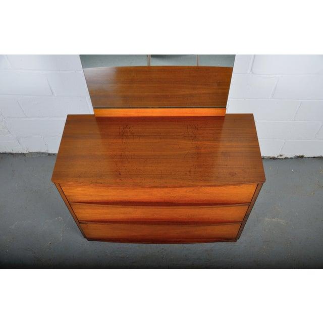 Brown Mid-Century Modern Walnut Vanity Dresser For Sale - Image 8 of 13