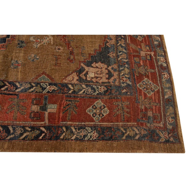 Vintage hand-knotted Persian Bakshaish Rug with a tribal medallion design. This piece has fine details, great colors, and...