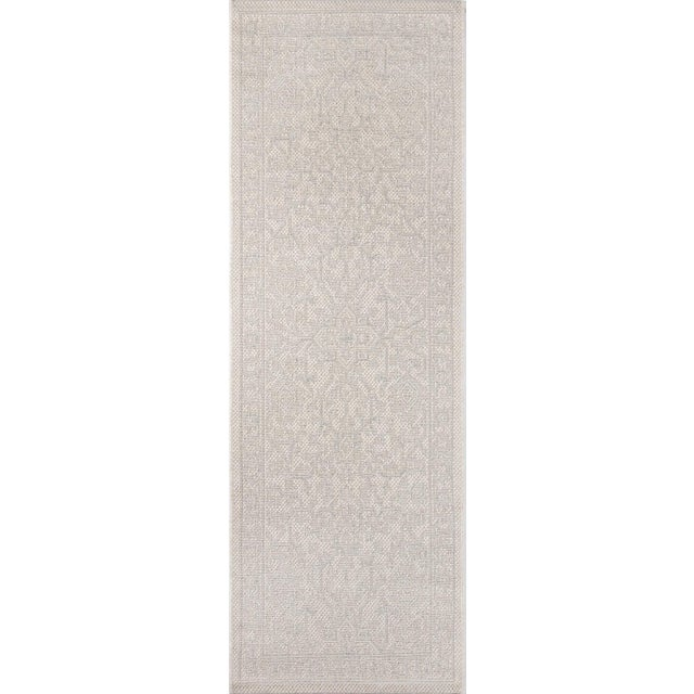 "2010s Erin Gates Downeast Boothbay Grey Machine Made Polypropylene Area Rug 2'7"" X 7'6"" For Sale - Image 5 of 10"