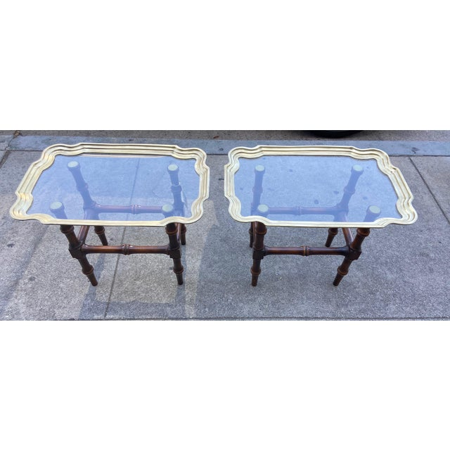 Vintage Gilded Moroccan End Table Pair For Sale - Image 4 of 10