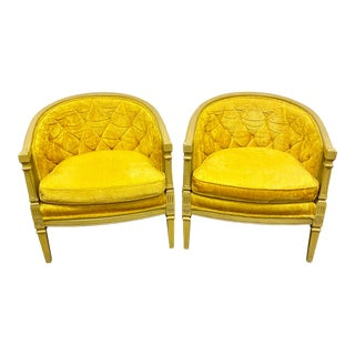 Mid Century Hollywood Regency Fairfield Club Chairs - a Pair For Sale