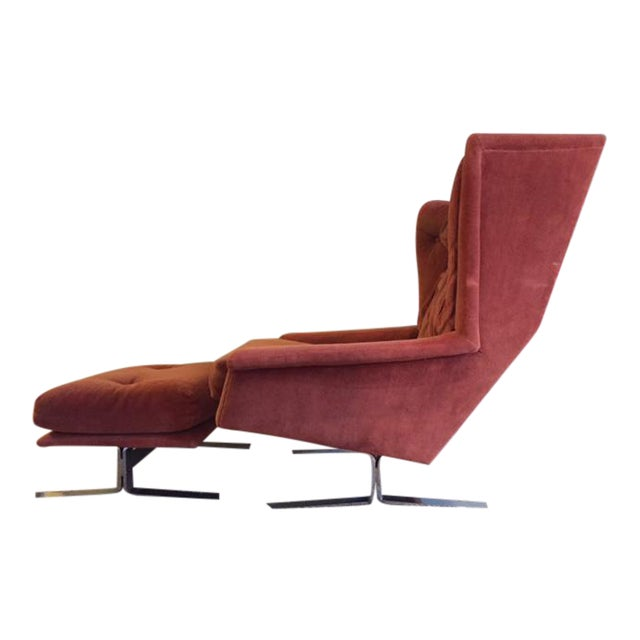 Wingback Chair With Ottoman by Adrian Pearsall - Image 1 of 8
