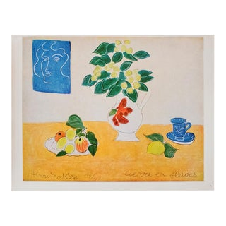 "1940s Henri Matisse, ""Flowering Ivy"" Original Period Swiss Lithograph For Sale"