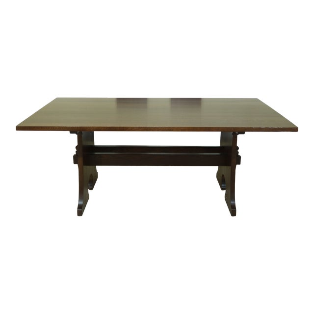 Stickley Mission Oak Mousehole Dining Room Table For Sale