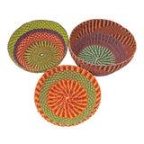 Image of Handmade Ghana Baskets - Set of 3 For Sale