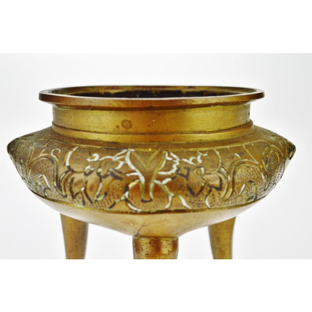 Antique Early Ming Dynasty Style Bronze Incense Burner - Image 5 of 9