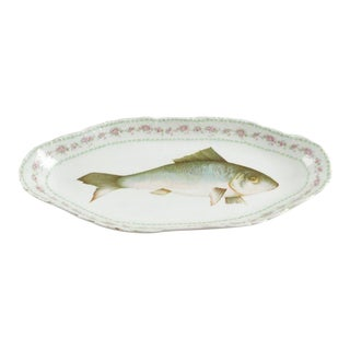 Austrian Ls (Lewis Straus) & S Carlsbad Porcelain Fish Platter For Sale