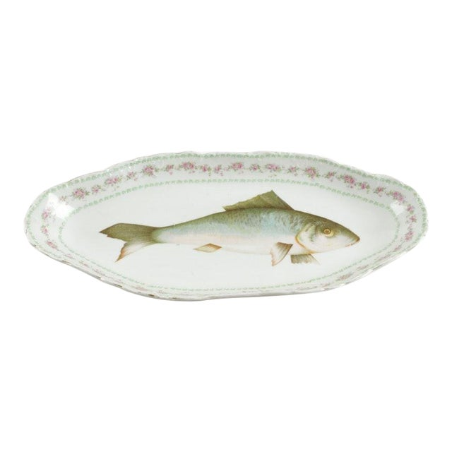 Austrian Ls (Lewis Straus) & S Carlsbad Porcelain Fish Platter For Sale
