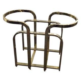 Dia Milo Baughman Brass Table Base For Sale