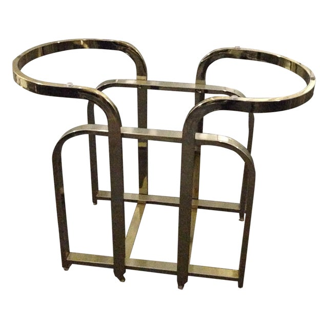 Dia Milo Baughman Brass Table Base - Image 1 of 4