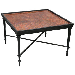 William Loyd Hand-Painted Iron Coffee Table For Sale