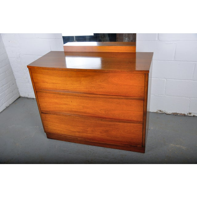 Wood Mid-Century Modern Walnut Vanity Dresser For Sale - Image 7 of 13