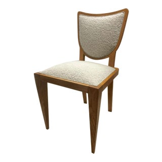 Jean Royère Documented Pair of Chairs, Newly Upholstered in Maharam Bouclé For Sale
