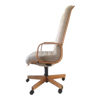 Executive Natural Desk Chair by Martin Stoll for Giroflex, 1970s