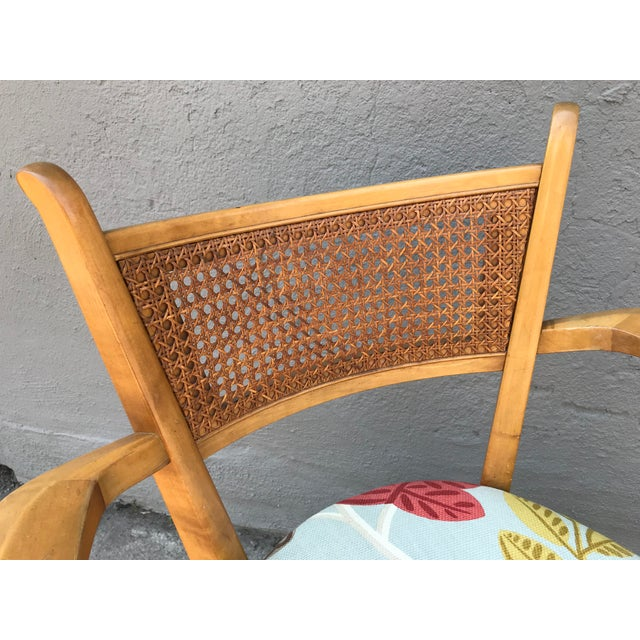 1950s 1950s Swedish Edmond Spence Birch and Caning Arm Chair For Sale - Image 5 of 6