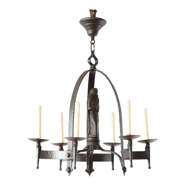 Maria Iron Chandelier For Sale