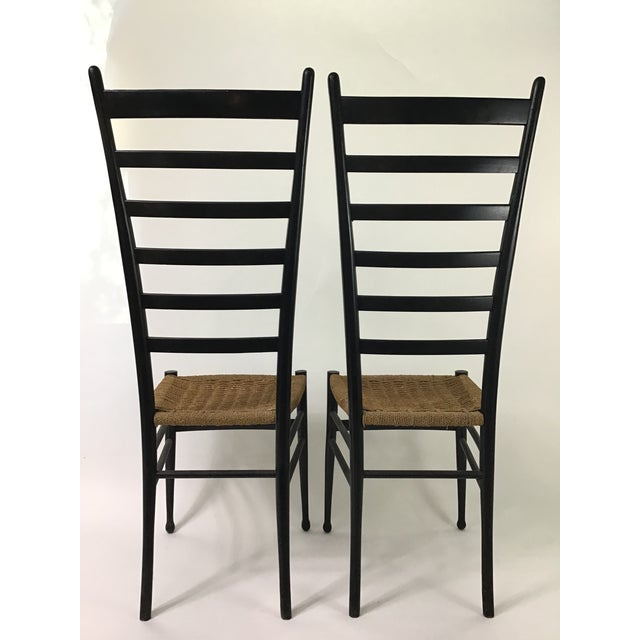 1950s Gio Ponti Ladder Back Chairs - a Pair For Sale - Image 5 of 9
