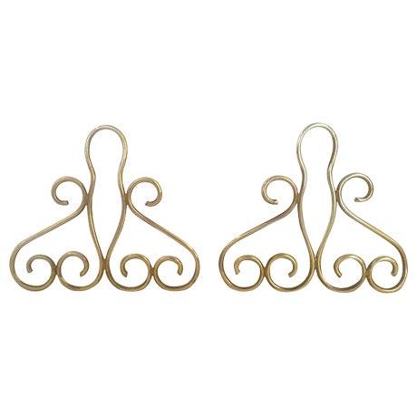 Tschappu Glarus Brass Bookends - a Pair - Image 1 of 7