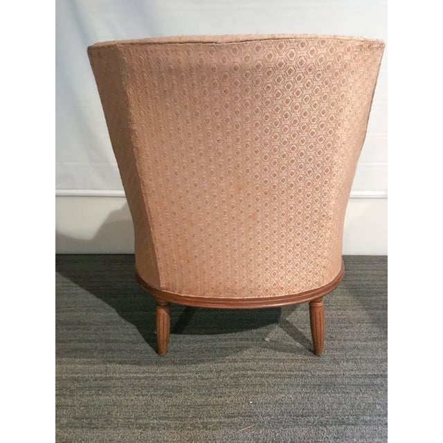 Mid-Century Modern Pale Pink Accent Chair - Image 8 of 11