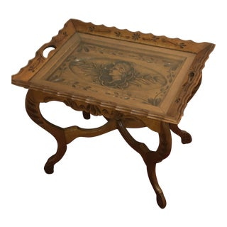 20th Century Eastlake Style Walnut End Table For Sale