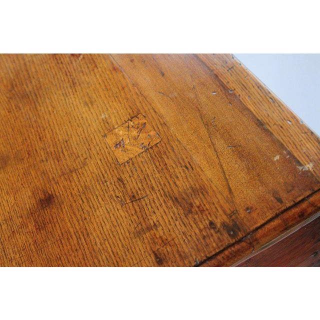 English Early 19th Century Oak Three Drawer Dresser Base For Sale - Image 10 of 13