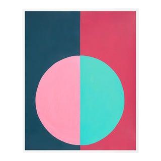 """""""Pink & Blue Forever"""" Medium White Framed Print by Stephanie Henderson For Sale"""
