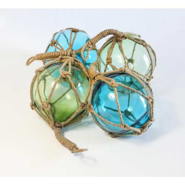 Glass Fishing Floats - Set of 4 - Image 2 of 5